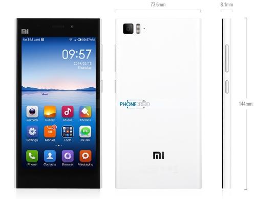 Taille Xiaomi Mi3