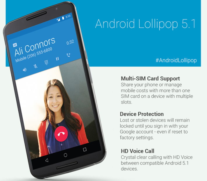 Android 5.1 Lollipop est maintenant officiel !