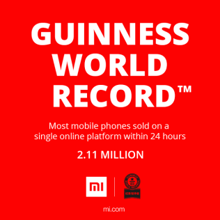 Official data shows: Xiaomi sales break Guinness World Record on Mi Fans Day!