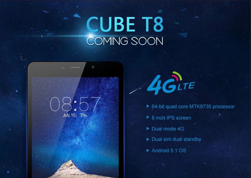 Cube T8 : Tous les détails sur cette tablette de 8 pouces