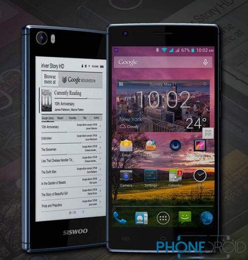 Siswoo R9: 64 bit MTK6752, 3GB RAM, Dual screen