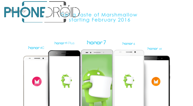Honor : les téléphones qui obtiendront Android 6 en février