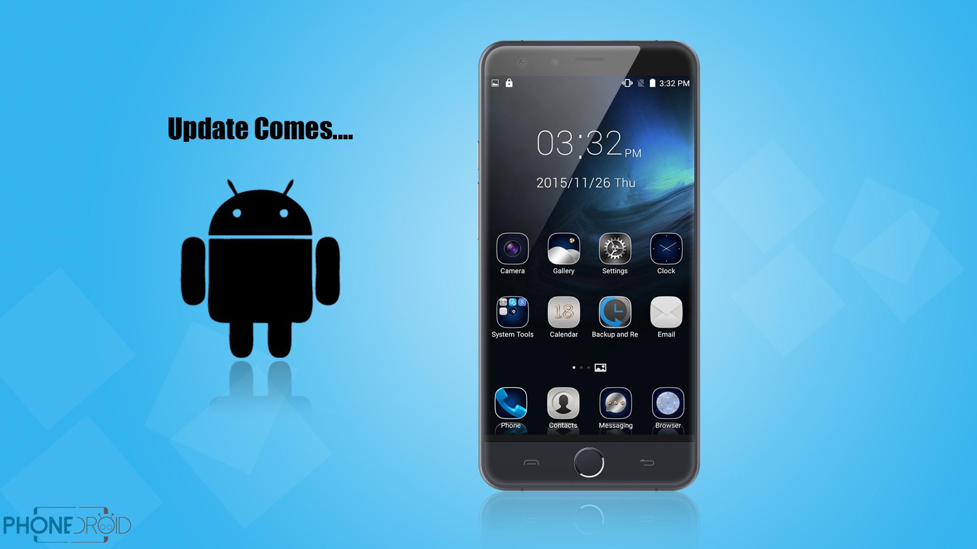 Ulefone Be Touch 3 : mise à jour logicielle