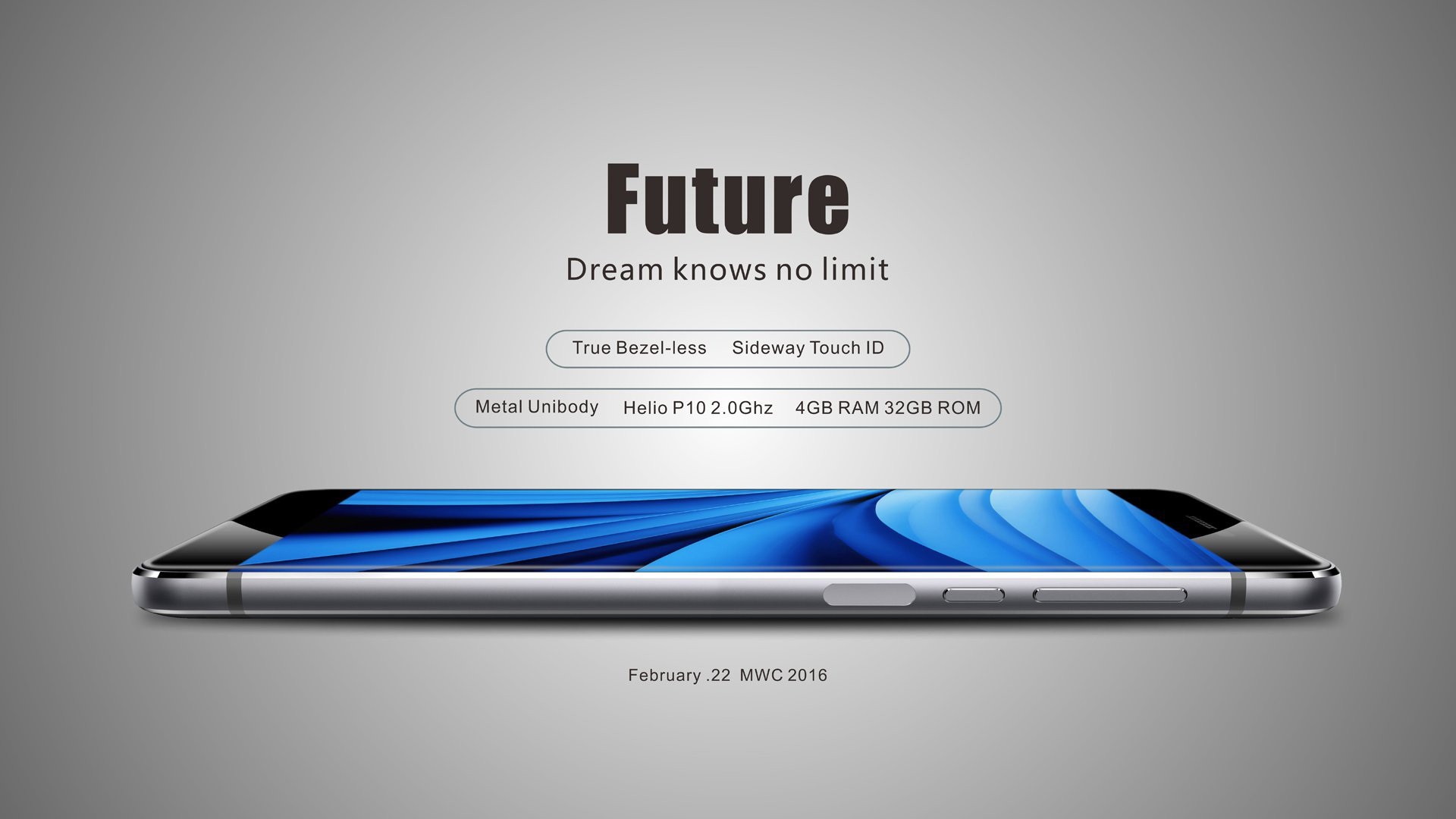 Ulefone Future : capteur d'empreinte digitale latéral.