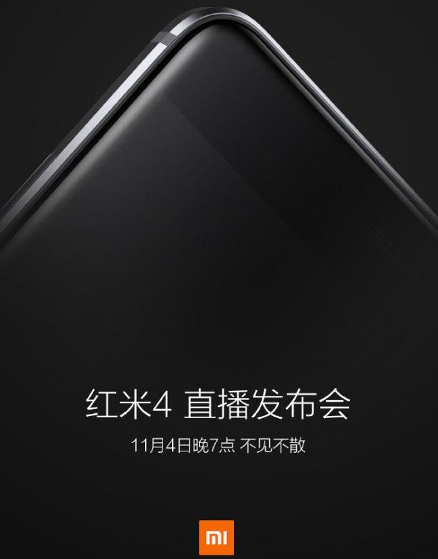 Le Xiaomi Redmi 4 est attendu pour le 4 novembre !