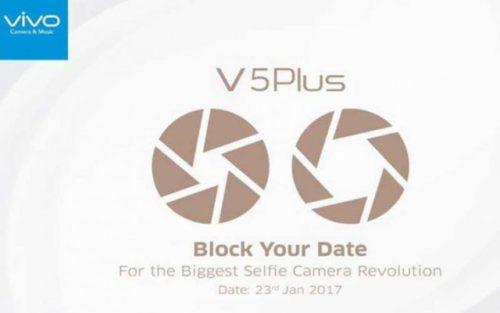Vivo V5 Plus : la double caméra d'invite en façade pour le 23 janvier !