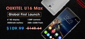 Oukitel U16 Max : premier lancement international